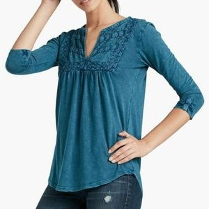 Lucky Brand Lace Bib Top